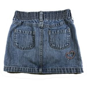 OshKosh B'gosh Bottoms - OskKosh Embroidered Denim Mini Skirt